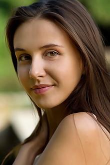 Alisa Amore in La Femme by Luca Helios outdoor sunny brunette brown eyes boobies shaved custom