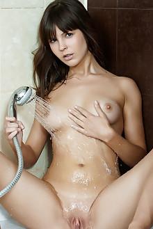 Zelda B in Seva by Rylsky indoor brunette brown eyes boobies shaved pussy ass labia wet latest