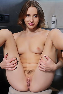 Vetra in Cute Pout by Leonardo indoor blonde brown eyes boob...