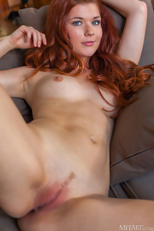 Mia Sollis in Bright Light by DeltaGamma indoor ginger freckles redhead green eyes boobies shaved pussy tight custom