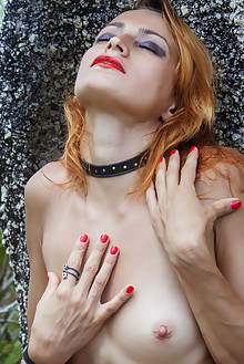 Lesma in Repture by Angela Linin outdoor redhead green eyes shaved pussy big labia tattoo latest