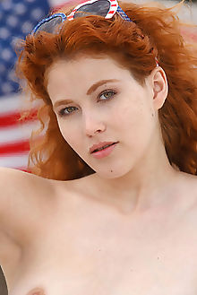 adel c dhillea luca helios outdoor redhead hazel freckles boobies puffy shaved pussy 4th july custom flag liberty