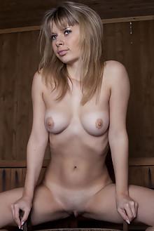 Antanta in In The Sauna by Marlene indoor blonde brown eyes boobies shaved pussy