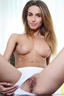 Cara Mell in Zivart by Blake Jasper indoor blonde blue eyes boobies shaved pussy fingering labia latest