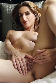 Cara Mell in High Waisted by Blake Jasper indoor brunette gr...