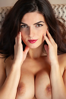 Presenting Cynthia Hill by DeltaGamma indoor brunette brown eyes boobies shaved pussy