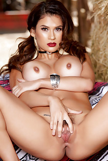 Vanessa Veracruz in Cowgirl Blues by Holly Randall indoor brunette brown eyes boobies hairy unshaven pussy tight ass latest