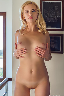 Mary Lin in Wanton by Alex Lynn indoor blonde blue eyes boob...