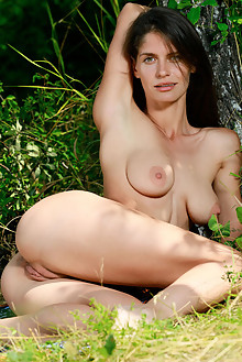 Yasmina in Bootylicious by Matiss outdoor sunny woods brunette green eyes boobies shaved pussy custom