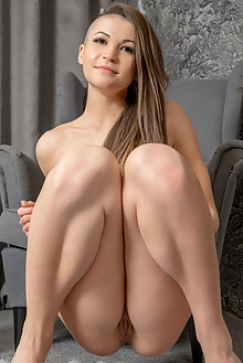 Kiana in Unique by Tora Ness indoor blonde brown eyes shaved custom