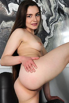 Monica Trent in Jammin by Fabrice indoor brunette brown eyes shaved pussy custom