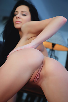 Lydia A in Valva by Arkisi indoor brunette black hair blue eyes boobies shaved pussy labia ass pinky latest