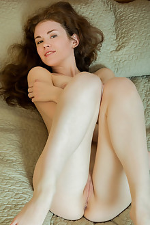Estelle in Sunlevigo by Rylsky indoor redhead brown eyes boobies shaved pussy
