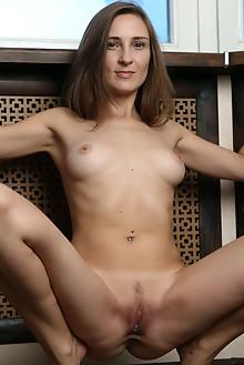 Alexandra F in Shining Star by Anton Volkov indoor brunette brown eyes boobies shaved pussy