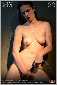 Monna Dark in Dark Bathing by James Cook indoor brunette brown eyes boobies shaved pussy wet fingering movies latest