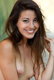 Lorena B in All Class by Luca Helios garcia outdoor sunny brunette hazel eyes hairy trimmed