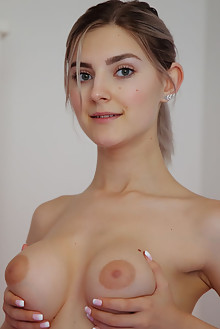 Eva Elfie in Join Me by Arkisi indoor blonde green eyes boob...