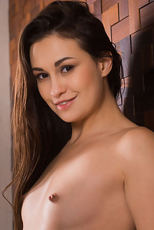 Lilian A in Vencia by Karl Sirmi indoor brunette brown eyes small tits shaved custom