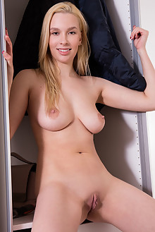 Agatha in Handy by Koenart indoor blonde brown eyes boobies shaved pussy ass