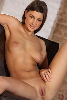 Melena A in Phane by Alex Sironi indoor brunette brown eyes tanned shaved tight tightest pussy ass latest