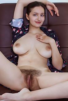 Adeline in City Flair by Albert Varin indoor brunette brown eyes boobies hairy unshaven bush pussy custom