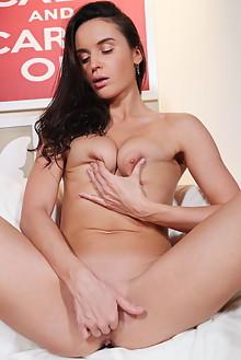 Leyla Lee in Keep Calm by Blake Jasper indoor brunette black hair shaved pussy fingering