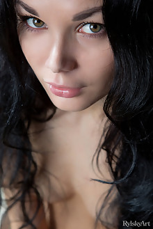 Josephine in Thronessa by Rylsky indoor brunette black hair hazel eyes boobies shaved tight pussy pinky latest