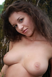 Agata S in Lake Nymph by Thierry Murrell outdoor sunny woods river lake brunette boobies busty trimmed