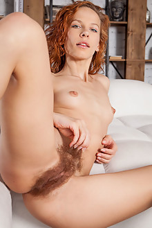 Dennie in Eramni by Ron Offlin indoor redhead hazel hairy unshaven pussy ass hips latest