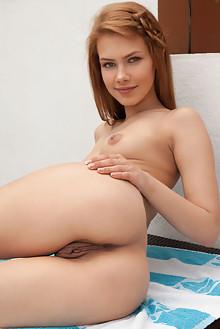 Laina in Seductive Smile by Koenart outdoor redhead hazel ey...