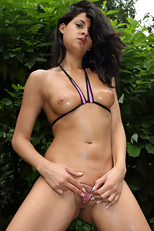 Coco De Mal in Hot Coco outdoor brunette black hair boobies shaved pussy toys latest
