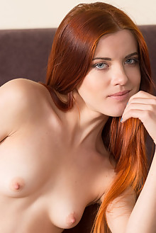 Kiva in Kiva by Stan Macias indoor redhead blue eyes small tits shaved pussy ass