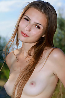 Elle Tan in Scyna by Matiss outdoor bike brunette brown eyes...