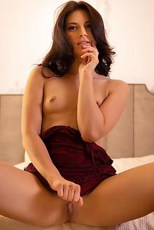 Aleksandrina in Bedroom Lust by Nudero indoor brunette shaved fingering