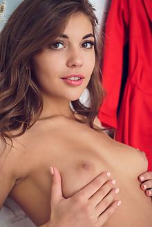 Monika Dee in Closet by Alex Lynn indoor brunette brown eyes...