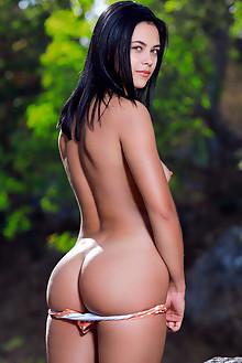 Dzhili in Modern Twist by Matriss outdoor sunny brunette black hair hazel eyes boobies shaved pussy