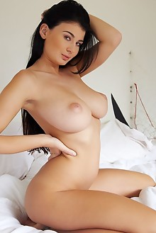 Lucy Li in Meio by Erro indoor brunette black hair green eyes boobies busty tanned shaved pinky tight pussy ass hips latest