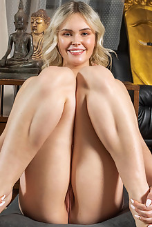 Ruth in At Peace by Tora Ness indoor blonde blue eyes boobies shaved tight