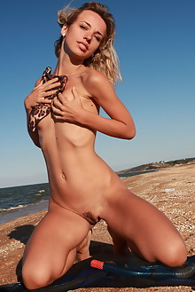 Nicole V in Diver Without Panties by Thierry Murrell outdoor...