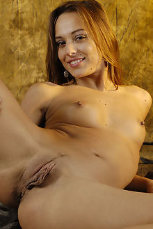 dominika cow hide beauty 6 philippe carly indoor brunette brown big labia shaved pussy