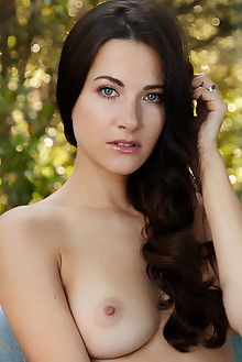 Lauren Crist in Corena by Erro outdoor brunette black hair blue eyes boobies shaved ass pussy latest