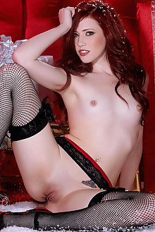 Elle Alexandra in Merry Little Elle by Holly Randall indoor redhead green eyes small tits shaved tight pussy latest