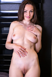 Tanya Grace in Shave Me by DeltaGamma indoor brunette brown eyes boobies shaved pussy