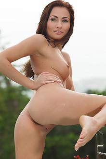 Michaela Isizzu in Leiss by Luca Helios outdoor brunette blu...