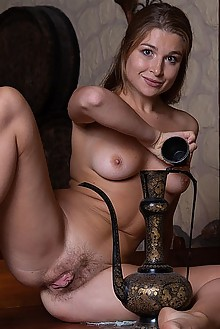 Aphrodesia in Aphrodisiac by Marlene indoor brunette boobies hairy trimmed pussy fingering ass