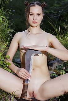 Ava in Country Woman by Erik Latika outdoor sunny woods brun...