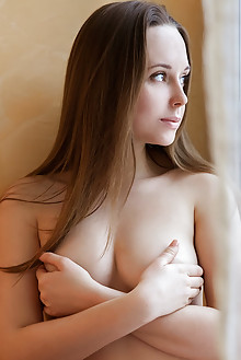 Lea A in Relaxed by Albert Varin indoor brunette brown eyes hairy unshaven pussy ass fingering latest