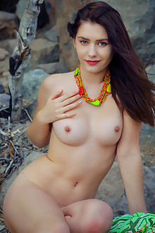 Kacy Lane in Natural by Arkisi outdoor brunette green eyes boobies shaved ass