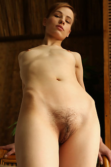 Liania in Setka by Rylsky indoor brunette hairy unshaven pus...