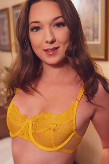 Isabela De Laa in Vanity by Alex Lynn indoor brunette green ...